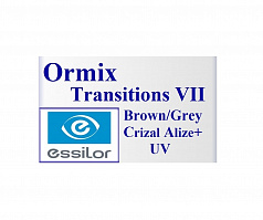 Essilor Ormix Transitions VII Brown/Grey Crizal Alize+ UV 1,6