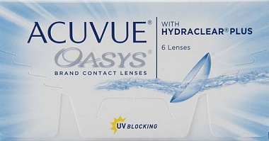 Acuvue Oasys witf HYDRACLEAR PLUS R 8.4, D 14